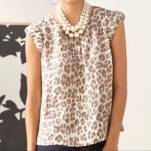 Banana Republic Leopard Blouse Shirt size small